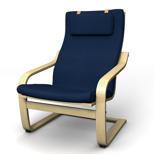 This navy isn't a stock Ikea color anymore, but this is roughly what my two look like. One in the bedroom/workpod, one in the living room. Still the greatest chairs.