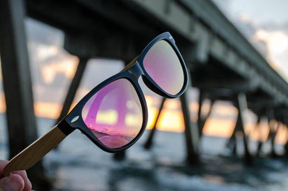 af8ae5da41 Wooden Wayfarer Sunglasses by Halcom Stilson. Eco-Friendly Bamboo Arms with  Polarized Lenses. 100% UV Protection for Men   Women