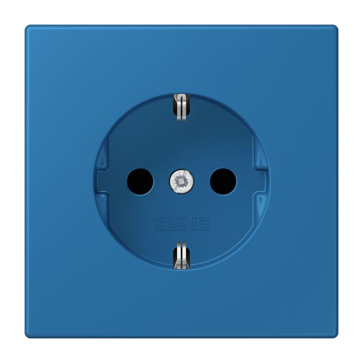 JJung LS990 wandcontactdoos LC1520KI 32030 bleu céruléen 31 Les Couleurs® Le Corbusier Kleuren