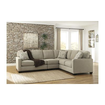 Ashley Furniture Alenya Quartz Armless Chair LAF Loveseat And RAF Sofa  Sectional