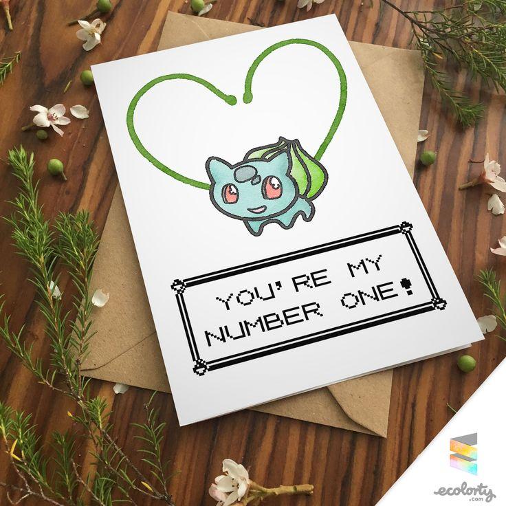Bulbasaur greeting card pokemon squirtle charmander