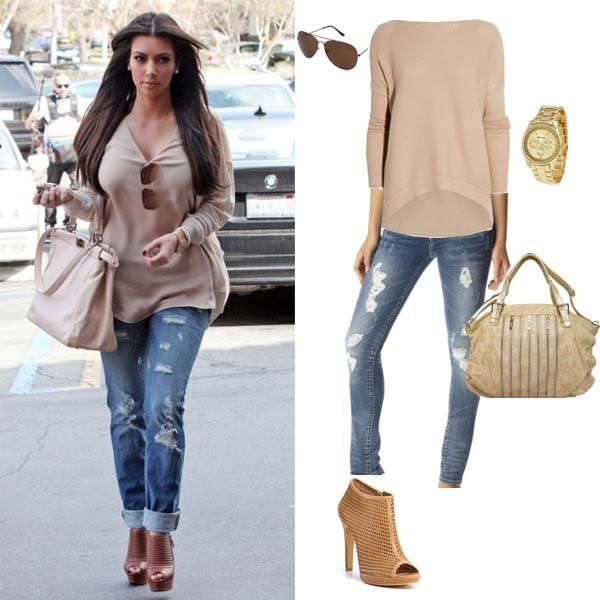 75 best images about Ripped Jeans on Pinterest | Kim kardashian ...