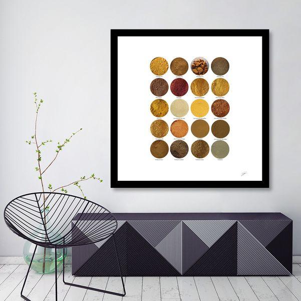 Découvrez «Pigments ocres N°3. Ochres N°3 pigments», Édition Limitée Affiches d'art par David Damour - À partir de 27€ - Curioos
