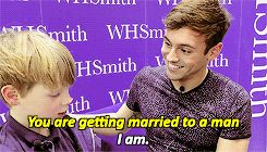Tom Daley & Dustin Lance Black — tomrdaleys: children people x