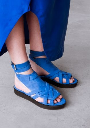 & Other Stories image 2 of Leather sandals in Blue Reddish Dark