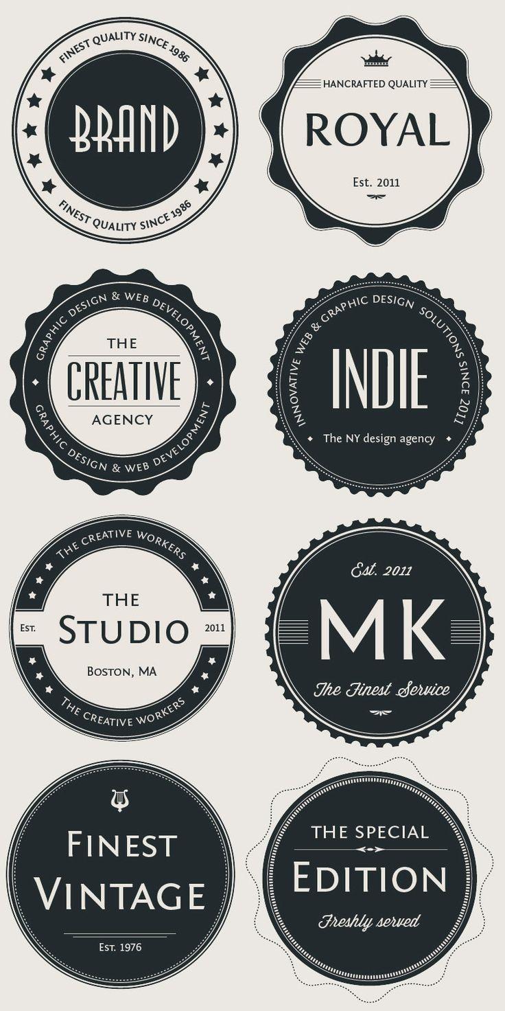 Fabuleux Plus de 25 idées uniques dans la catégorie Logo rond sur Pinterest  QA62
