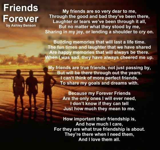 Friends Forever Poems Pinterest Friendship