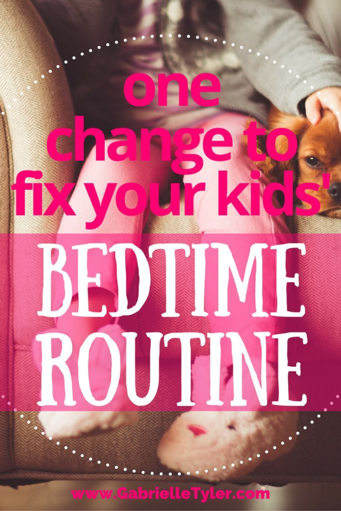 don't let your kid's bedtime routine stress you out and make you mean. Check out this one change we made that revamped our night time routine.