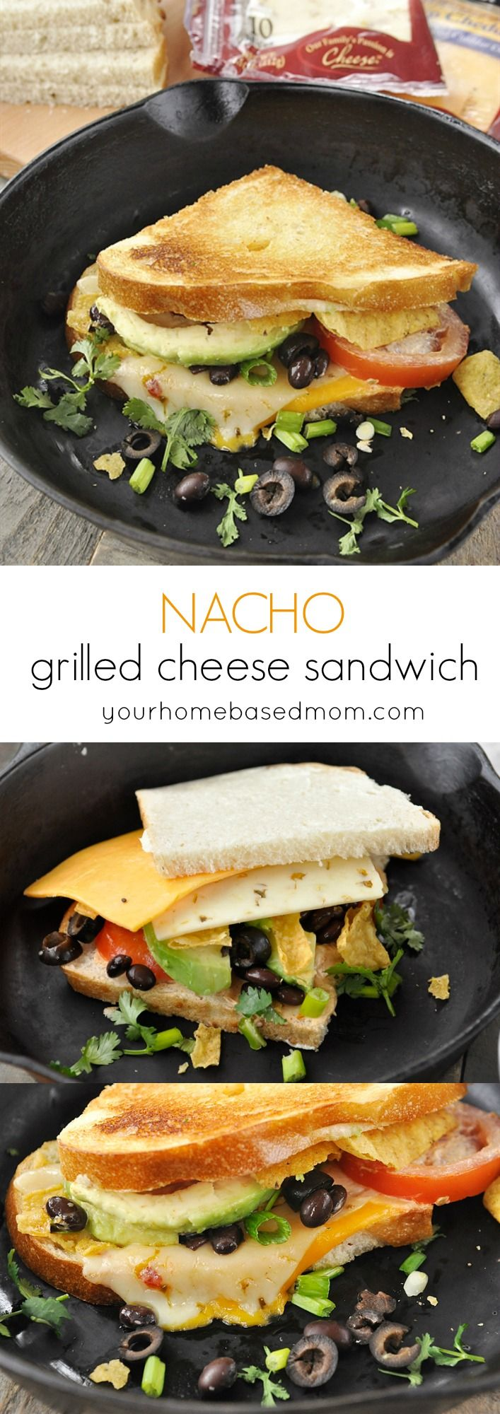 Nacho Grilled Cheese Sandwiches Recipe - perfect for tailgating, game day, family night or any time!
