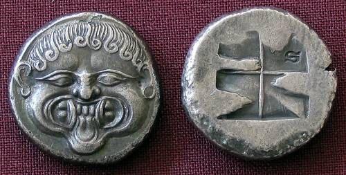 Neapolis Stater Greece 510480 BC fine silver by antiquanova, $36.00