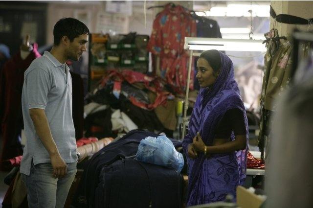 Still of Christopher Simpson and Tannishtha Chatterjee in Brick Lane