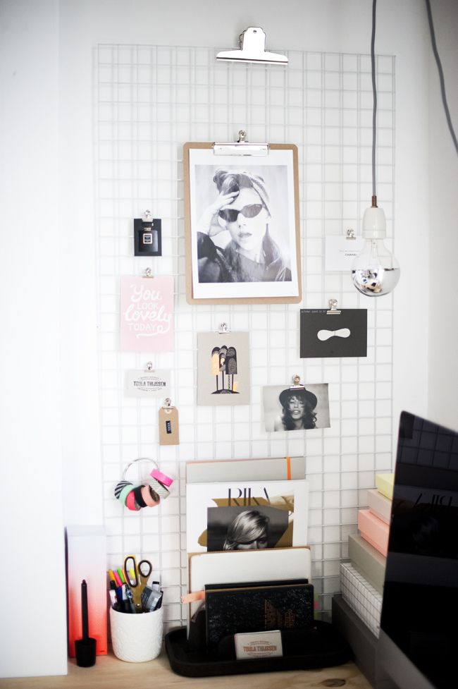 The desk of graphic designer Toula via Chapter Friday