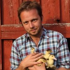 andreas viestad of New Scandinavian Cooking.  I'm not sure I'd ever make anything he cooks, but I am mesmerized by this show and all the outdoor cooking and lingonberries.