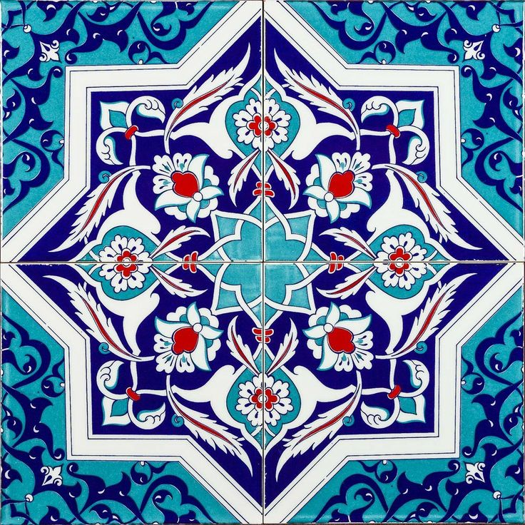 Set of 4 Dava Turkish Tiles - Market Trader - on Temple & Webster today!