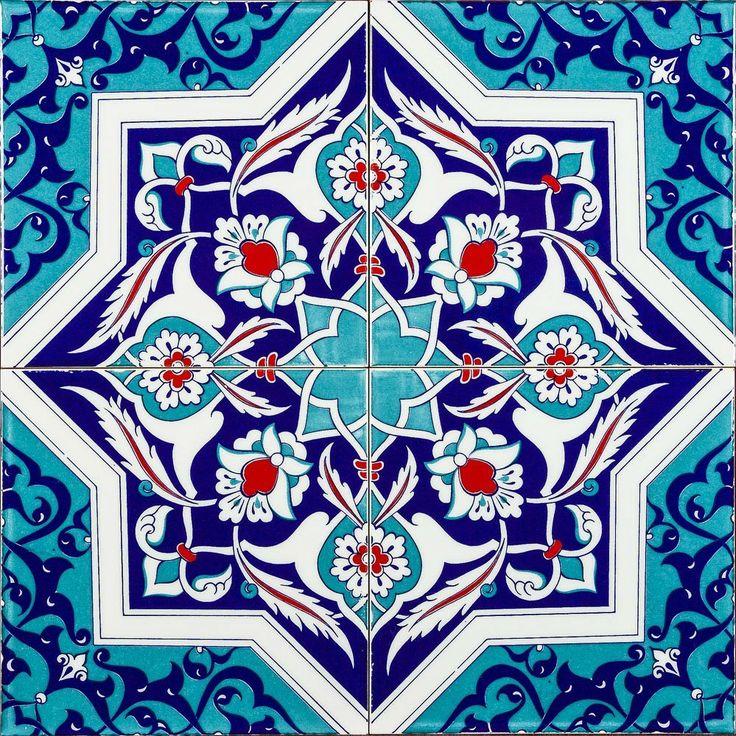 Set of 4 Dava Turkish Tiles - Market Trader - on Temple & Webster today!