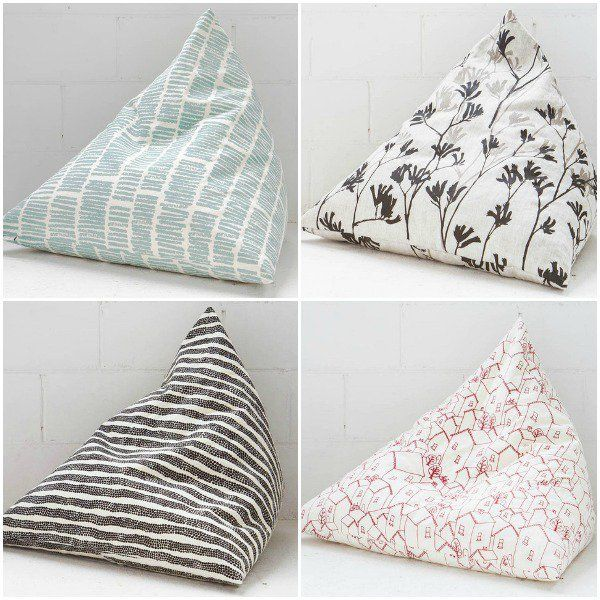 Decorate the nursery with Pyramini cushions from Ink & Spindle