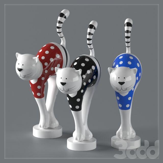 Керамическая статуэтка - кот