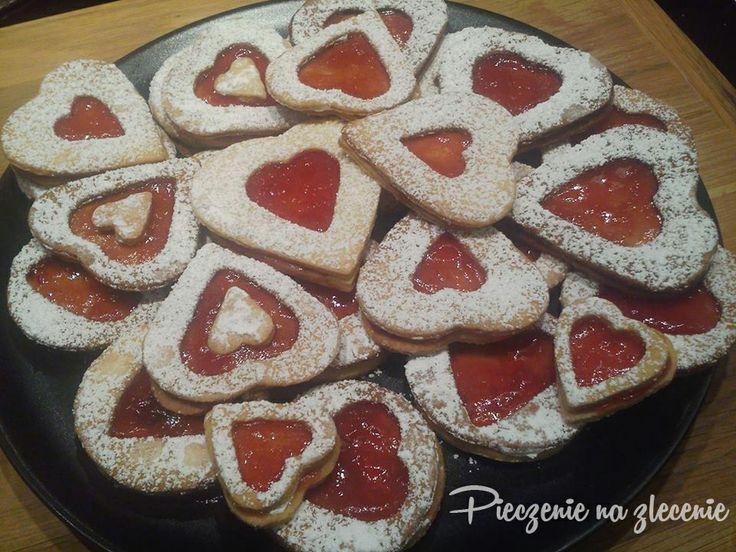 Ciasteczka walentynkowe :) z marmoladą.