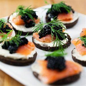 Salmon and Caviar Appetizers Keywords: #weddingreceptionfood #jevelweddingplanning Follow Us: www.jevelweddingplanning.com www.facebook.com/jevelweddingplanning/