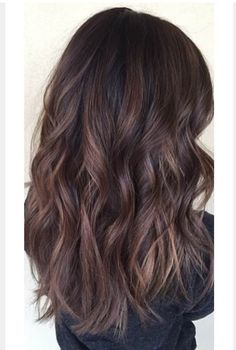 brown balayage on black hair - Google Search                                                                                                                                                                                 Plus
