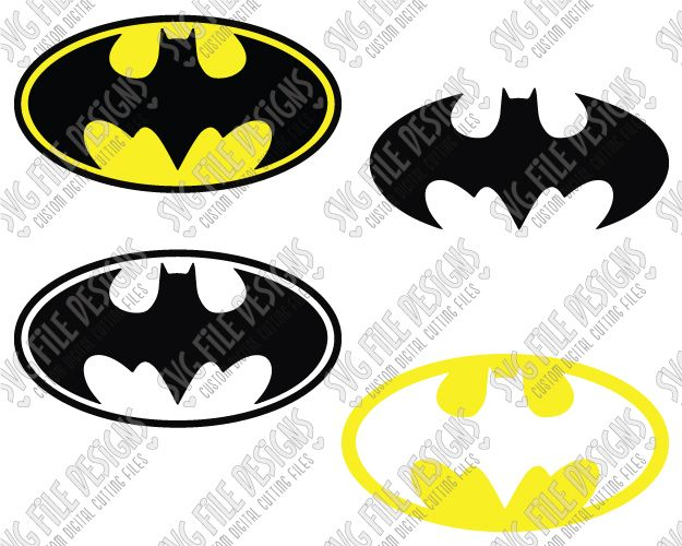 Batman Logo SVG Cut File Set for DIY Halloween Costumes in SVG EPS DXF JPEG PNG Format for Cricut, Silhouette, Brother ScanNCut