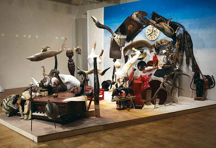Les sculptures en anamorphose de Bernard Pras   les sculptures en anamorphose de bernard pras composition objets perspective 3