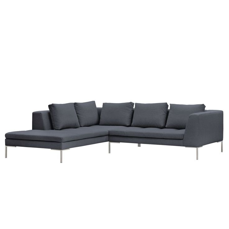Good Tolles Dekoration Couch Grau Stoff #14: Ecksofa Madison I Webstoff - Ottomane Davorstehend Links - 255 Cm - Stoff  Milan Anthrazit,
