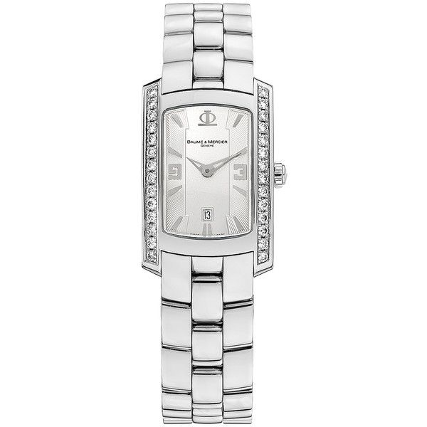 8513 Baume & Mercier Hampton Milleis Women's Watch (6.805 BRL) ❤ liked on Polyvore featuring jewelry, watches and baume mercier watches