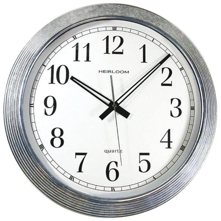 "Timekeeper 16"" Galvanized Metal Silver Wall Clock"