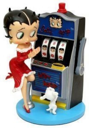 Betty Boop with Slot Machine Luck Be A Lady Ceramic Musical Figurine   eBay