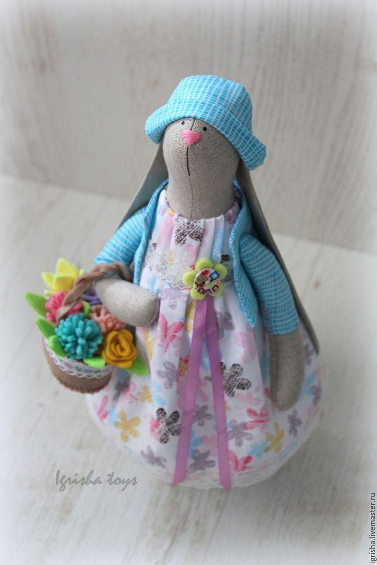 Купить Зайка Маргаритка - бирюзовый, зайка, зайка девочка, зайка тильда, зайка в подарок, заяц