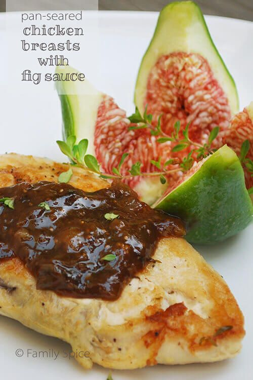 Fresh figs, balsamic and lemon juice make this sweet and sour fig sauce that pairs beautifully with chicken, fish or pork