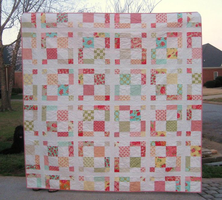Easy Quilt Patterns Using Layer Cakes : Charming - a Digital Quilt Pattern - Charming - Baby, Lap, and King Sizes - Layer Cake and Charm ...