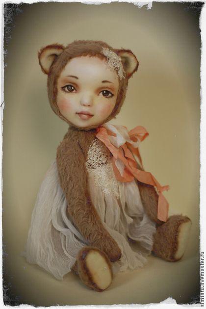 Тедди-долл Маняша - бежевый,тедди-долл,тедди долл,тедди мишка,мишка девочка