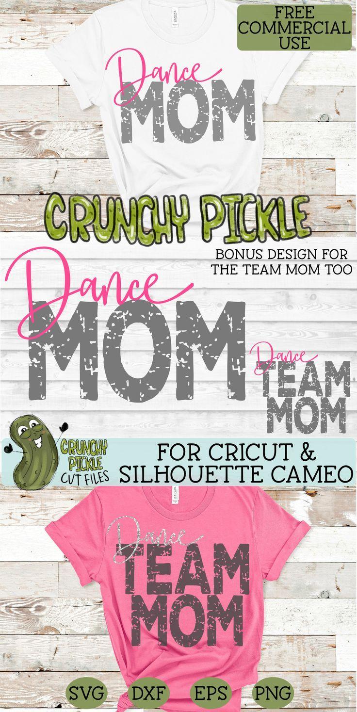 Dance Mom & Bonus Team Dancer Mom Sports SVG Cut File