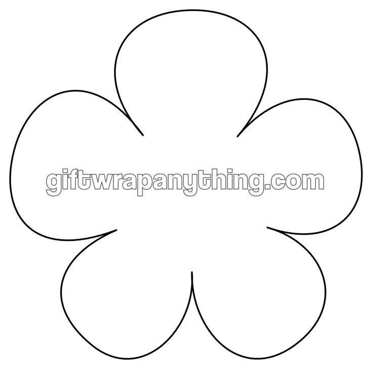Flower printable shape cutout brain time pinterest for Paper cut out templates flowers