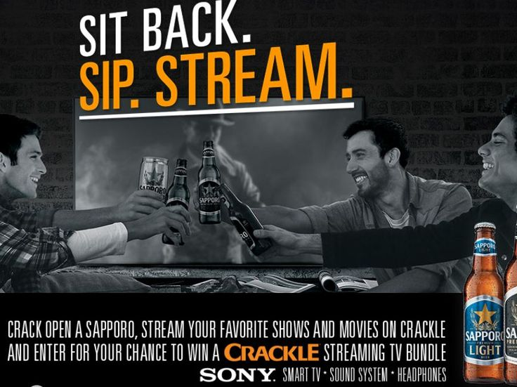 Enter The Sapporo Sony Crackle Home Theater Giveaway Sweepstakes for a chance to win a Sony Home Theater System worth $2,850!