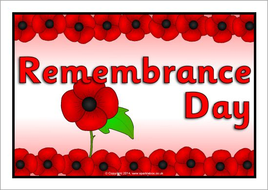 Remembrance Day display resources @ SparkleBox
