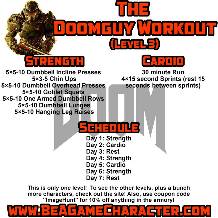 The Doomguy Space Marine workout!