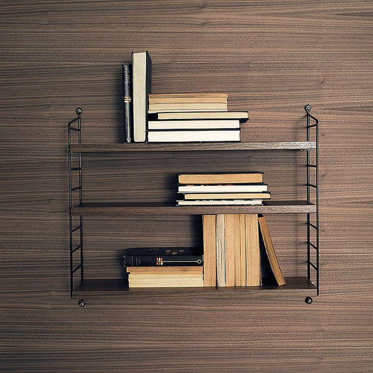 top3 by design - String - string pocket walnut shelves black