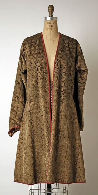Tunic Design House: Fortuny  (Italian, founded 1906) Designer: Mariano Fortuny (Spanish, Granada 1871–1949 Venice) Date: 1928 Culture: Italian Medium: silk, glass Dimensions: Length at CB: 39 in. (99.1 cm) Credit Line: Gift of Madge Baker, 2003