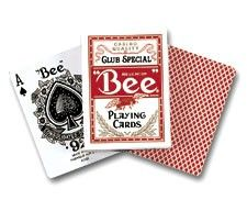 bee Playing Cards-Red Pack - Bee Playing Cards Bee® Diamond Back Club Special playing cards standard poker size casino quality used by discriminating card-players since 1892. Made in USA. http://www.comparestoreprices.co.uk/board-games/bee-playing-cards-red-pack--bee-playing-cards.asp