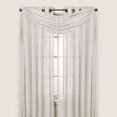 Attractive Quinn Stripe Sheer Grommet Window Curtain Panels   Bed Bath U0026 Beyond