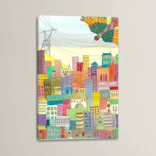 Found it at Wayfair - Ma Ville Painting Print on Wrapped Canvas