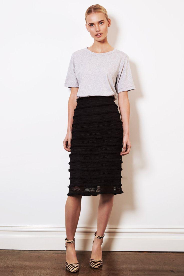 shop ethical clothing Australia | sustainable - ethi -Lace Pencil Skirt