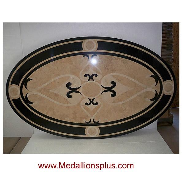 "travertine oval medallion   36"" Oval Stone Floor Medallion - MedallionsPlus.com - Floor Medallions ..."