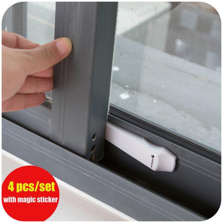 4 unids/set protección seguridad seguridad del bebé adhesivo de bloqueo cerradura de la puerta deslizante ventana secundaria niños Safety cerraduras de ventanas producto del bebé en Candados de Mejoras para el Hogar en AliExpress.com | Alibaba Group