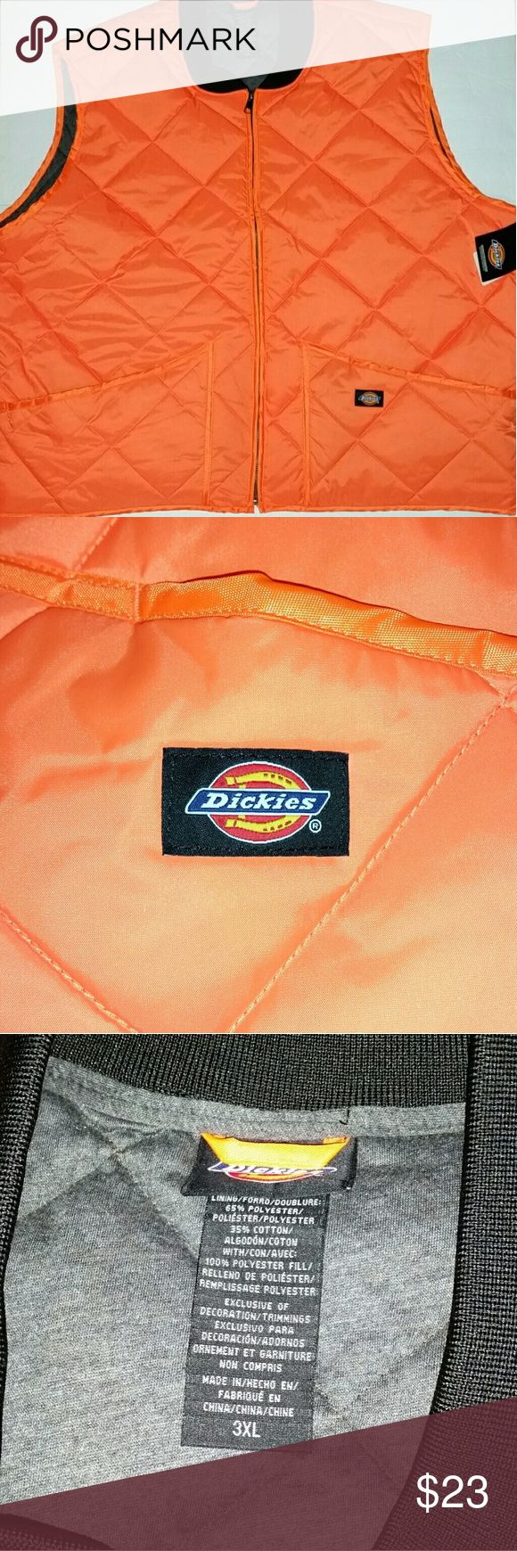 Men's quilted vest 31 inches armpit to armpit,  29 inches long.  I do have bundle discount, other than that all prices are firm! Dickies Jackets & Coats Vests