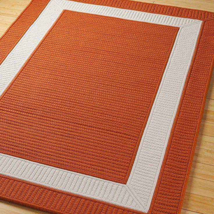 Border Braided Indoor Outdoor Rug: Border Braided Indoor Outdoor Rug Available In 11 Colors