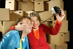"""From Teater Hund's production """"Mr Son & Mrs Mom - on Tour"""" (2010). Photo: Per Gibbons"""